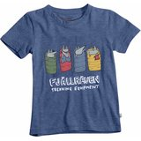 Fjällräven Kids Sleeping Foxes T-Shirt Deep Blue (527)