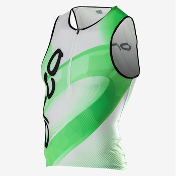 Orca 226 Printed Tri Tank Men (2016), Black/Neon Green, S