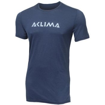 Aclima Lightwool T-shirt Logo Man, Insignia Blue, L