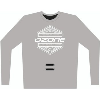 Ozone Tech Long Sleeve Tee Inspired with hook hole, Grey, M