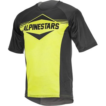 Alpinestars Mesa SS Jersey, Black / Acid Yellow, S