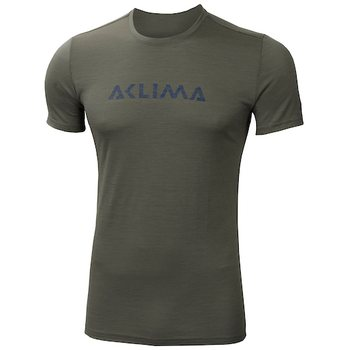 Aclima Lightwool T-shirt Logo Man, Ranger Green, XL