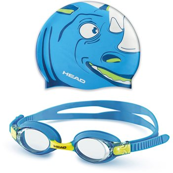 Head Goggle Set Meteor Character, Blue/White