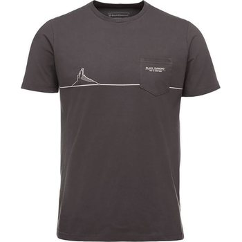 Black Diamond SS Tower Tee M, Smoke, XL