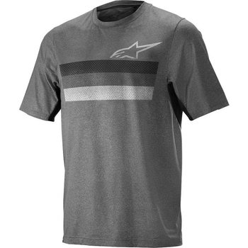 Alpinestars Alps 6.0 Short Sleeve Jersey, Melange - Dark Grey - Black, M