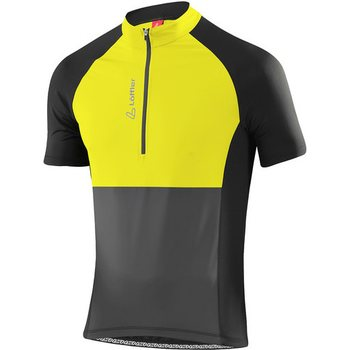 Löffler Bike Jersey Block HZ Mens, Citron (250), 48