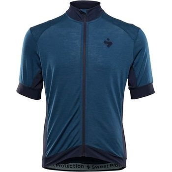 Sweet Protection Crossfire Merino SS Jersey, Ocean Blue, S