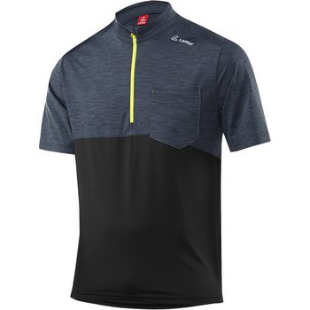 Löffler Bike Shirt Rainbow HZ Mens, Black-Citron (925), 50