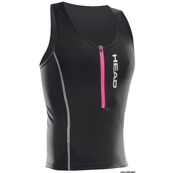 Head Tri Top Zip Lady, Black, S