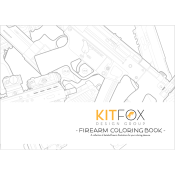 KitFox Original Firearm Coloring Book