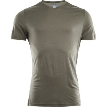 Aclima Lightwool T-Shirt V-Neck Man, Ranger Green, S