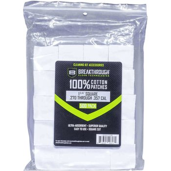 "Breakthrough Square Cotton Patches - 1-3/4"" x 1-3/4"" - 500pcs / Pack with Plastic Tray"