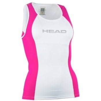 Head Tri Top Woman, White/Fuchsia, L