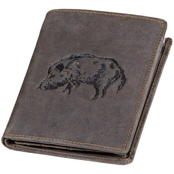Wallet with Wild Boar Embossing