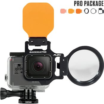 FLIP Pro Package with Shallow, Dive & Deep Filters & 15 MacroMate Mini Lens (GoPro Hero 7/6/5)