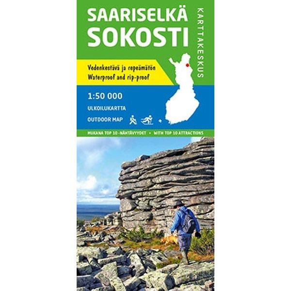 Saariselka Sokosti 1 50 000 Outdoor Map 2015 Outdoor Maps Of